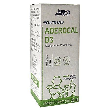 Nutrisana Aderocal D3 20ml - Mundo Animal