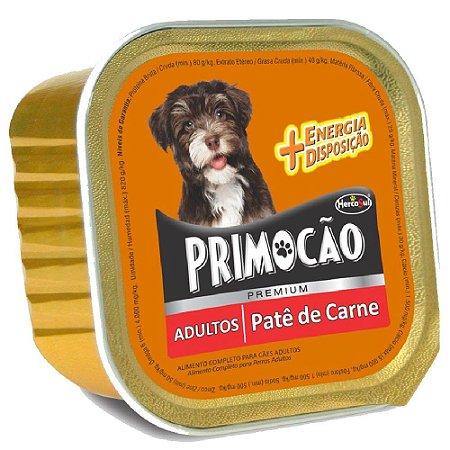 Ração Úmida Primocão Premium Patê Cães Adultos Sabor Carne 300g - Hercosul