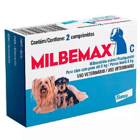 Milbemax Cães Até 5 Kg 2 Comprimidos - Novartis