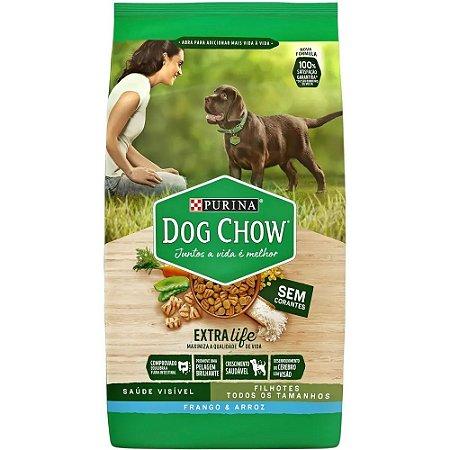 Ração Premium Dog Chow Cães Filhotes Sabor Frango e Arroz 15kg - Purina