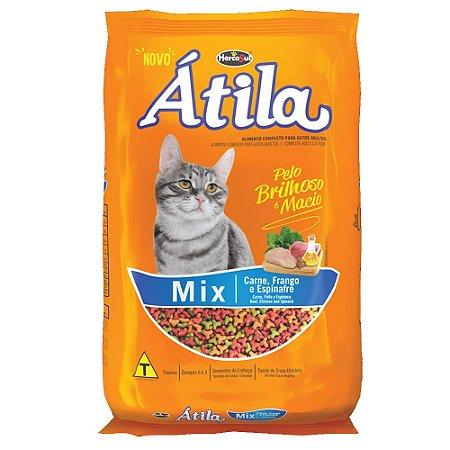 Ração Para Gatos Átila Mix Carne, Frango e Espinafre 1kg