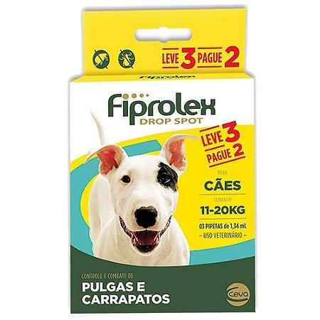 Fiprolex Cães 11 a 20kg Leve 3 Pague 2 - Ceva