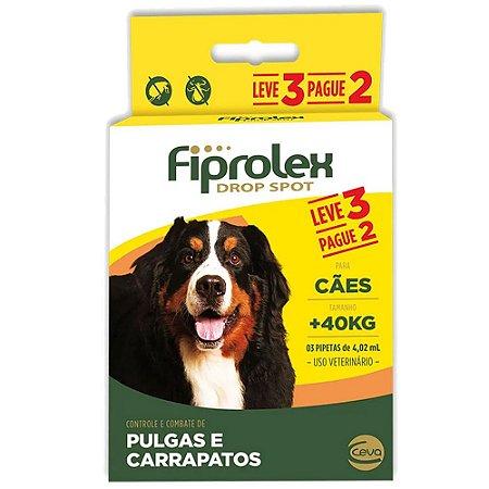 Fiprolex Cães +40kg Leve 3 Pague 2 - Ceva