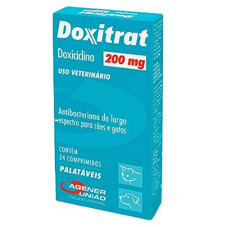 Antibacteriano Doxitrat 200mg Cães e Gatos 24 comprimidos - Agener