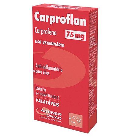 Anti-inflamatório Cães Carproflan 75mg 14 Comprimidos - Agener