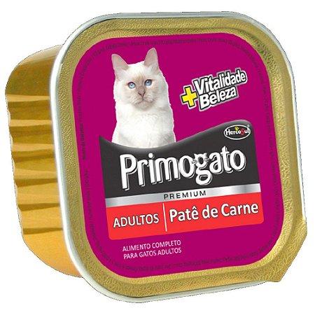 Ração Úmida Primogato Premium Patê Gatos Adultos Sabor Carne 150g - Hercosul