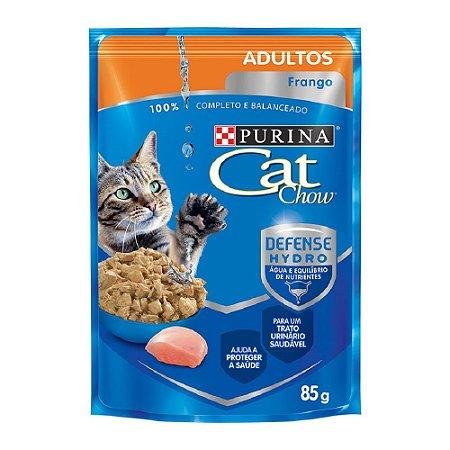 Ração Úmida Purina Cat Chow Sachê Gatos Adultos Sabor Frango 85g