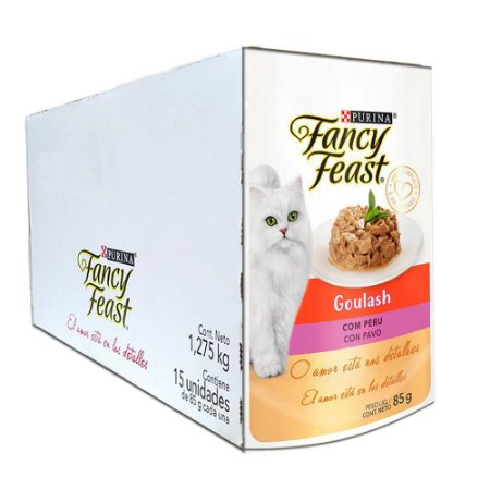 Ração Úmida Fancy Feast Sachê Gatos Adultos Goulash Sabor Peru Caixa 15un 85g Cada - Purina