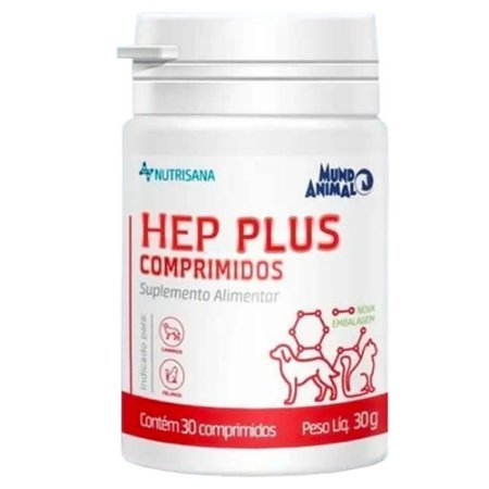 Nutrisana Hep Plus  30 Comprimidos - Mundo Animal