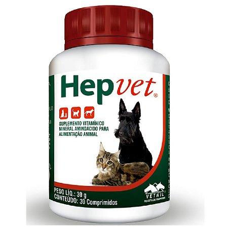 Suplemento Vitamínico Hepvet 30 Comprimidos - Vetnil