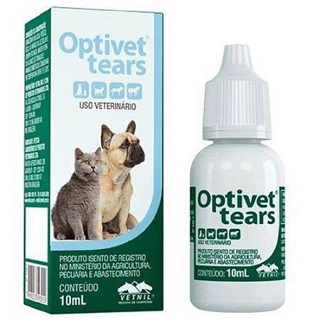 Colírio Lubrificante Optivet Tears - 10ml Vetnil