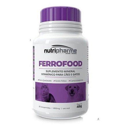 Suplemento Vitamínico Ferrofood 60cps - Nutripharme