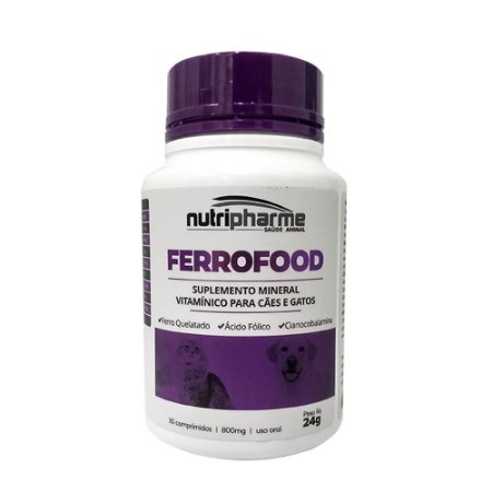 Suplemento Vitamínico Ferrofood 30cps - Nutripharme