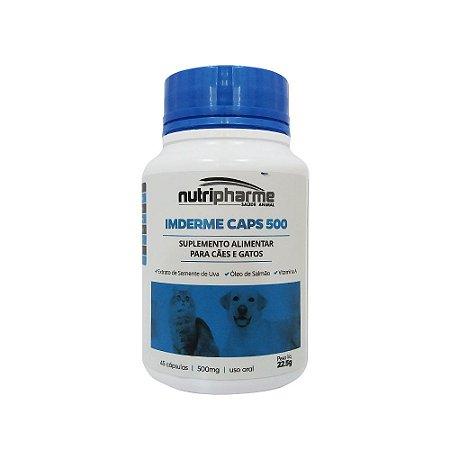 Suplemento Vit. Imderme Caps 500 Nutripharme 45 Cápsulas