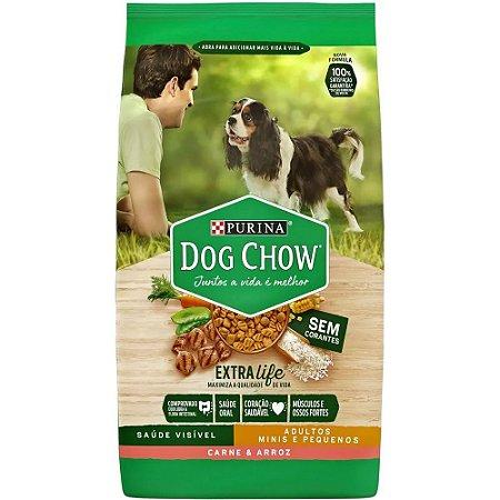 Dog Chow Carne E Arroz 3kg Raças Pequenas Purina S/ corante