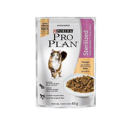Alimento Úmido Sachê Pro Plan Gatos Castrados Sterilized 85g