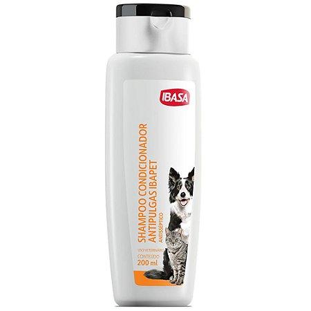 Shampoo Condicionador Ibasa Antipulgas Antisséptico 200ml