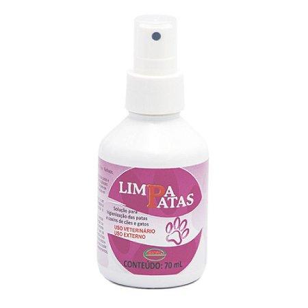 Solução Limpa Patas Spray Com Aloe Vera 70ml - Ecovet