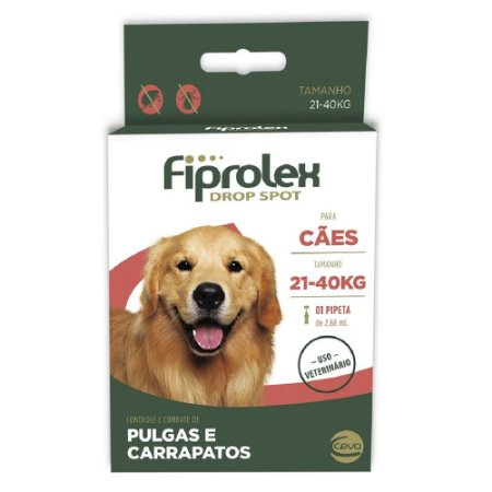 Antipulgas Ceva Fiprolex Para Cães 21kg a 40kg 2,68ml