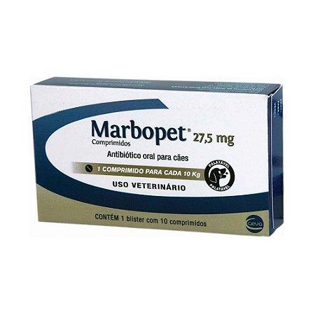 Antibiótico Marbopet 27,5mg 10 comprimidos - Ceva