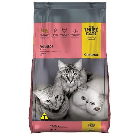 Ração ThreeCats Original Premium Especial Gatos Adultos Sabor Carne 10,1kg - Hercosul