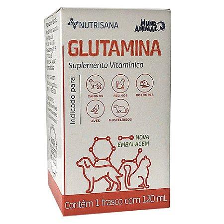 Suplemento Vit. Nutrisana Glutamina 120ml - Mundo Animal