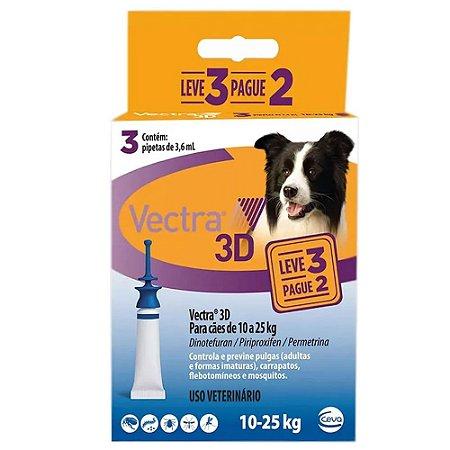 Vectra 3D Cães 10 A 25kg pague 2 leve 3