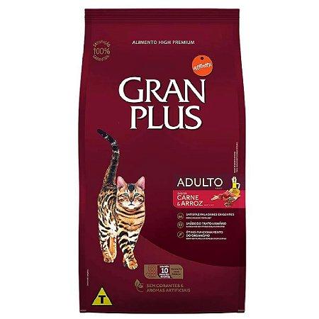 Ração Gran Plus Gatos Carne E Arroz 10 Pacotes de 1kg cada