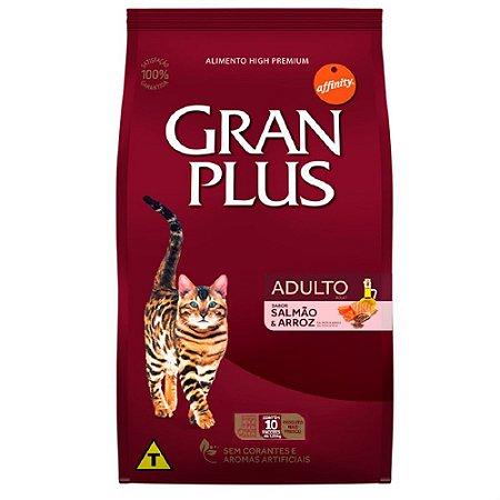 Ração Gran Plus Gatos Salmão E Arroz 10 Pacotes de 1kg cada
