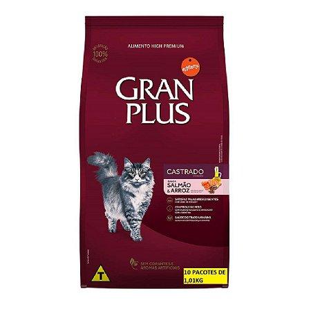 Ração Gran Plus Gato Castrados Salmão 10 Pacotes de 1kg cada
