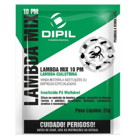 Inseticida Lambda Mix 10 PM Dipil 25g