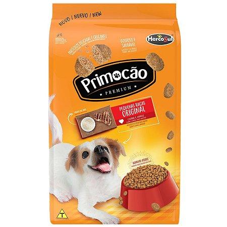 Ração Primocão Premium Cães Adultos Raças Pequenas Sabor e Arroz Carne 1kg - Hercosul