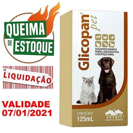 Glicopan Pet 125ml Vetnil - Liquidação