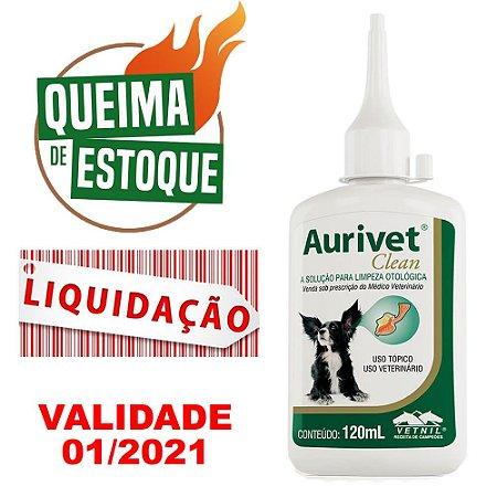 Solução Limpeza Otológica Aurivet Clean 120Ml Vetnil - Liquidação