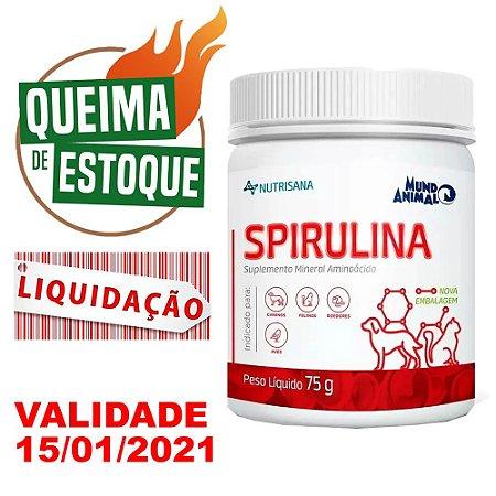 Nutrisana Spirulina 75g - Mundo Animal - Liquidação