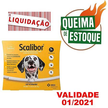 Coleira Scalibor G 25g 65cm Msd - Liquidação