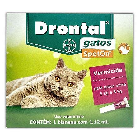 Drontal Gatos SpotOn 5kg a 8kg (1,12 ml) - Bayer