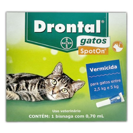 Drontal Gatos SpotOn 2,5kg a 5kg (0,7 ml) - Bayer