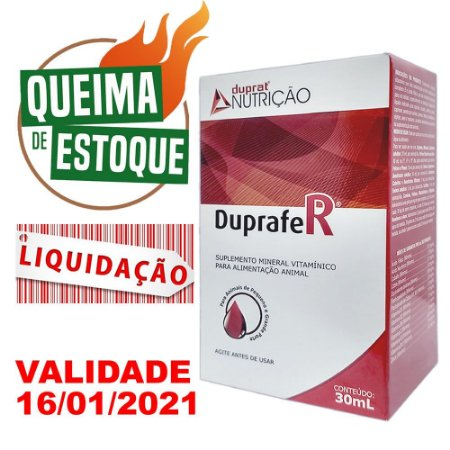Suplemento Mineral Vitamínico Duprafer 30ml - Liquidação