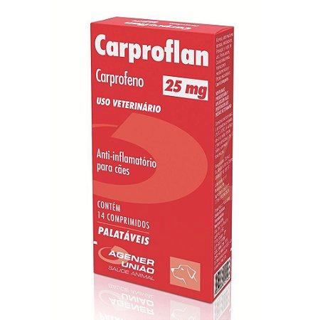 Anti-inflamatório Cães Carproflan 25mg 14 Comprimidos - Agener