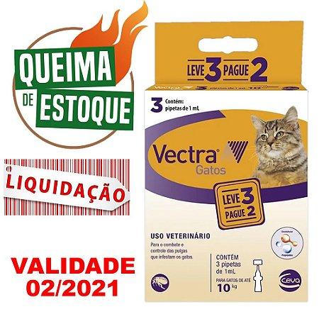 Vectra Gatos Até 10KG 1ml Leve 3 Pague 2 - Ceva Val.02/21