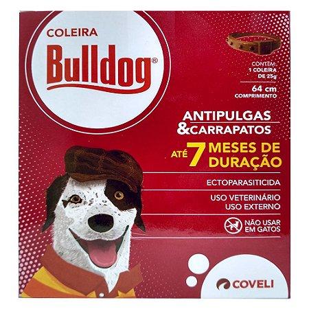Coleira Antipulgas Para Cães BullDog 64cm - Coveli