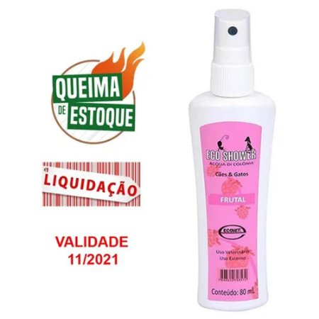 Colônia Eco Shower Frutal Ecovet 80ml - Perfume (VAL: 11/21)