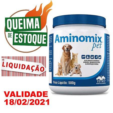Suplemento Vitamínico Aminomix Pet Pó 500g Vetnil - Liquidação
