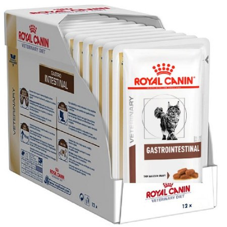 Ração Úmida Royal Canin Clínica Gatos GastroIntestinal Wet Combo 12un 85g cada