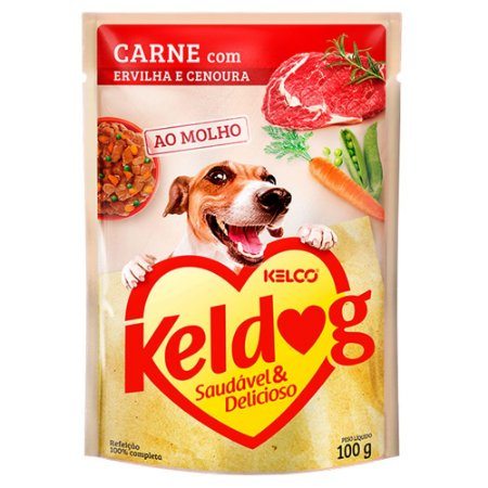 Keldog Sachê Carne com Ervilha e Cenoura 100g