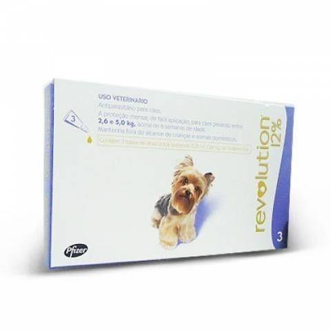Antipulgas Revolution Cães 2,6 A 5 Kg Cx 3 Pipetas