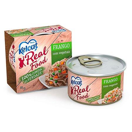 Kelcat Real Food Frango com Vegetais 85g - Kelco