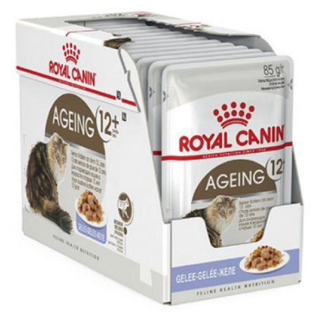 Ração Úmida Royal Canin Ageing 12+ Gatos Acima 12 Anos Wet Combo 12un 85g Cada