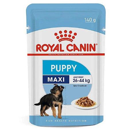 Ração Úmida Royal Canin Maxi Puppy Cães Filhotes Porte Grande Wet 140g